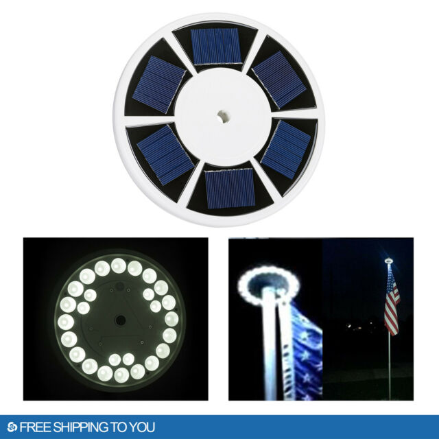Waterproof automatic solar powered flag pole light 26 led outdoor waterproof automatic solar powered flag pole light 26 led outdoor night lamp mozeypictures Image collections