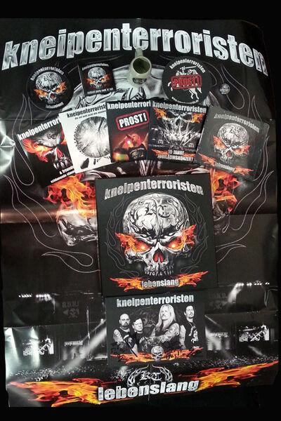 KNEIPENTERRORISTEN - LEBENSLANG BOX - ULTRA EDITION + BONUS DVD INK. 4 CDs etc.