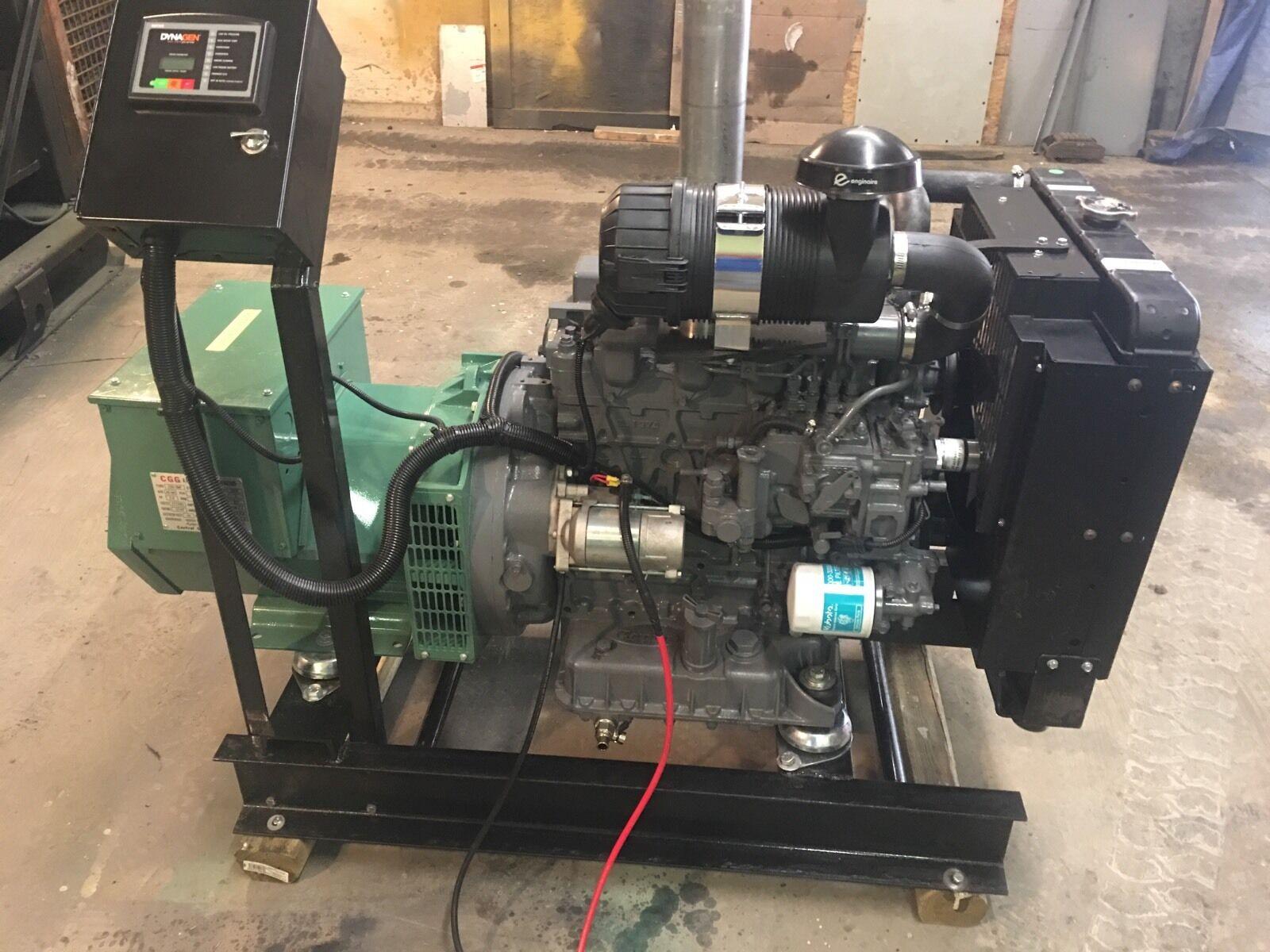 25 KW Diesel Generator Kubota 0 HRS 12 Lead Single or Three Phase