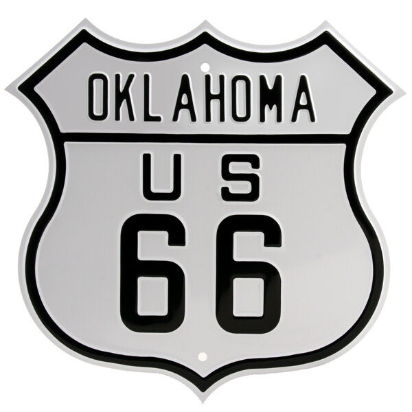 Route 66 Oklahoma Metal Sign Embossed Highway Shield Garage Decor 15
