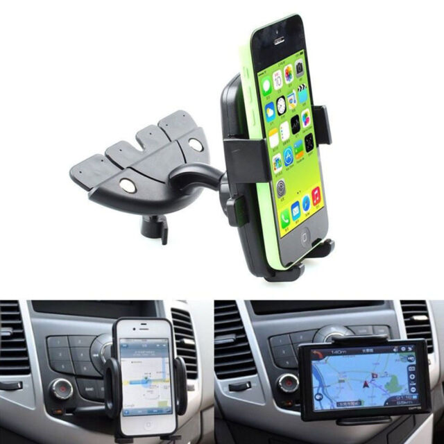 Mobile Smart Cell Phone GPS 360 Car Auto CD Slot Mount Cradle Holder Stand 、New