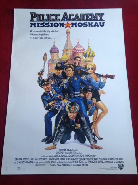Police Academy Mission in Moskau Kinoplakat Poster A0, 84x119cm, Christopher Lee