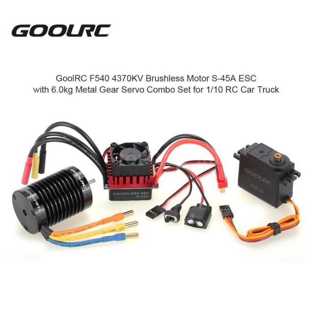 GoolRC F540 4370KV Motor ESC with Servo Upgrade Brushless for 1/10 RC Car D5B3