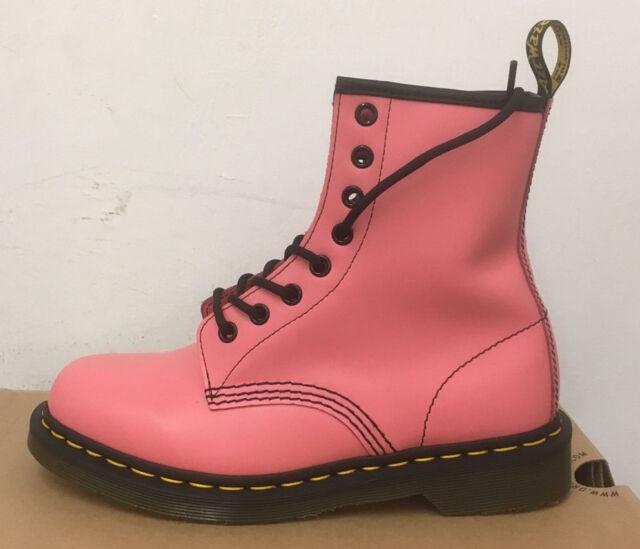Dr Martens Shoes UK Store Dr Martens 1460 Acid Pink Smooth Leather Boots Size Uk 9