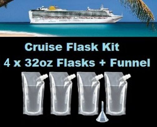 Cruise Flask Kit X Oz Funnel Smuggle Alcohol Liquor Runner - Best way to smuggle booze on a cruise ship
