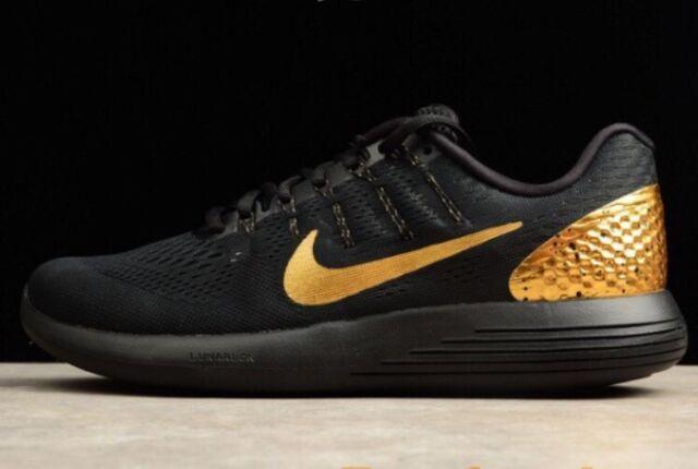 Nike Mens Lunarglide Suppliers 8 Running Shoe Black/Gold