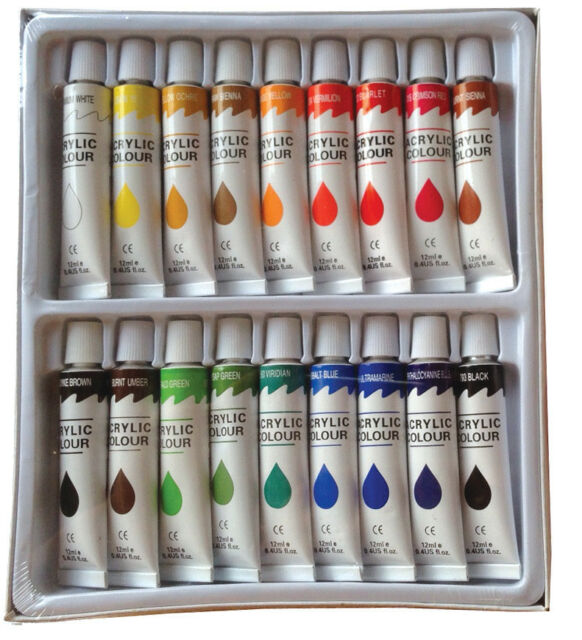 Acrylic Painting Colour Chart