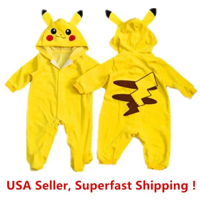 Pokemon Go Toddlers Infant Baby Boy Girls Coat Pikachu Outfit Jumpsuit Romper  sc 1 st  eBay & Pokemon Go Toddlers Infant Baby Boy Girls Coat Pikachu Outfit ...