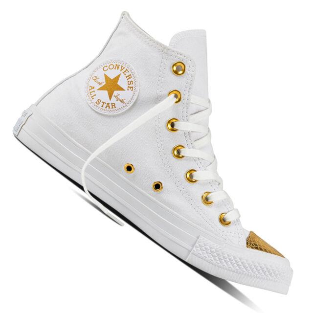 Converse Scarpa Donna Sneaker Hi White 555813C ORO