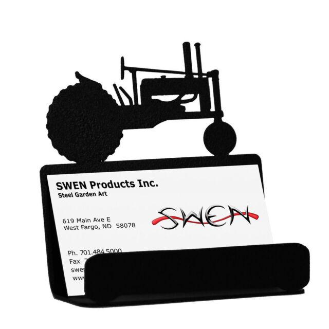 Swen products farrell black metal john deere tractor business card swen products tractor john deere black metal business card holder colourmoves