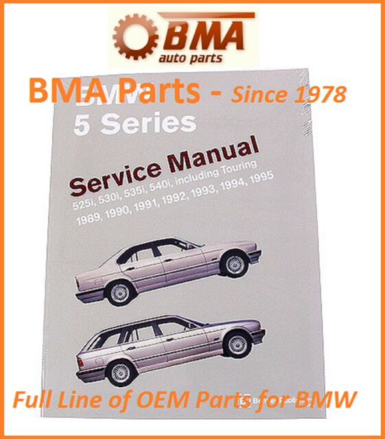 bmw e34 525i 525it 530i 535i 540i repair manual bentley bm8000595 ebay rh ebay co uk 2013 BMW 540I E34 540I Touring