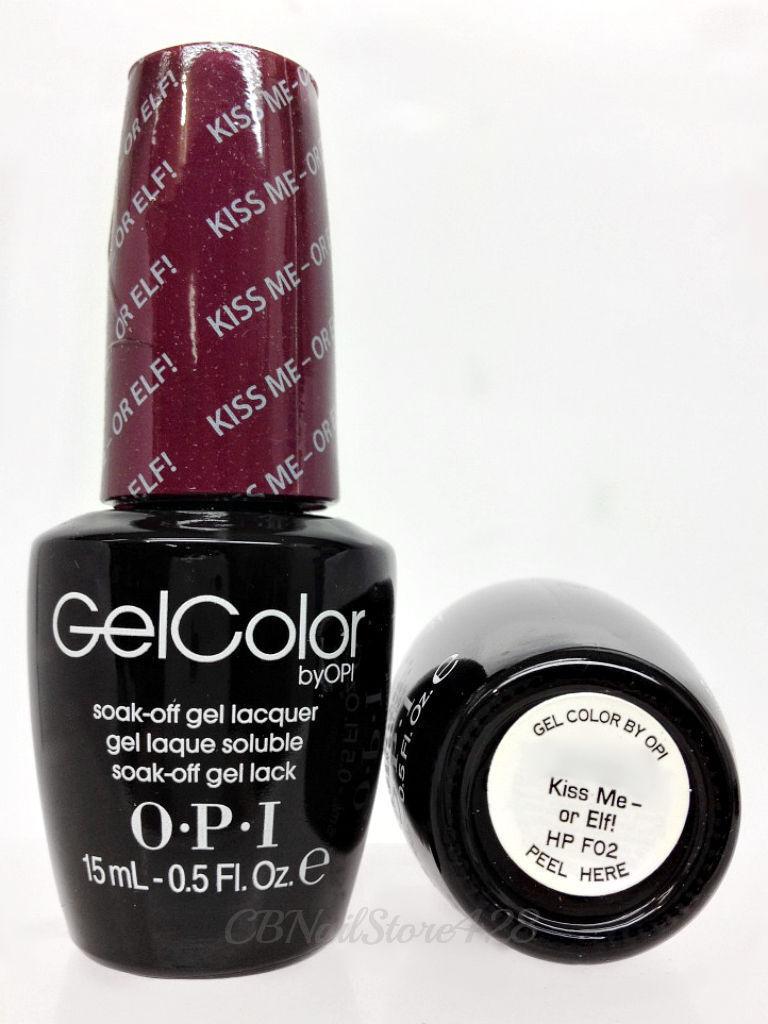 Gelcolor Soak off - HP F02 Kiss Me or Elf OPI 0.5oz/15ml   eBay