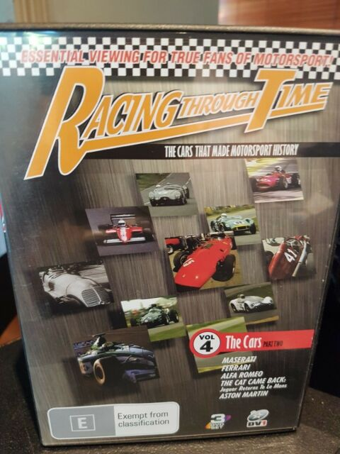 Racing Through Time  The Cars -Vol 3 DVD, 2007,3-Discs*R4*Terrific Condition