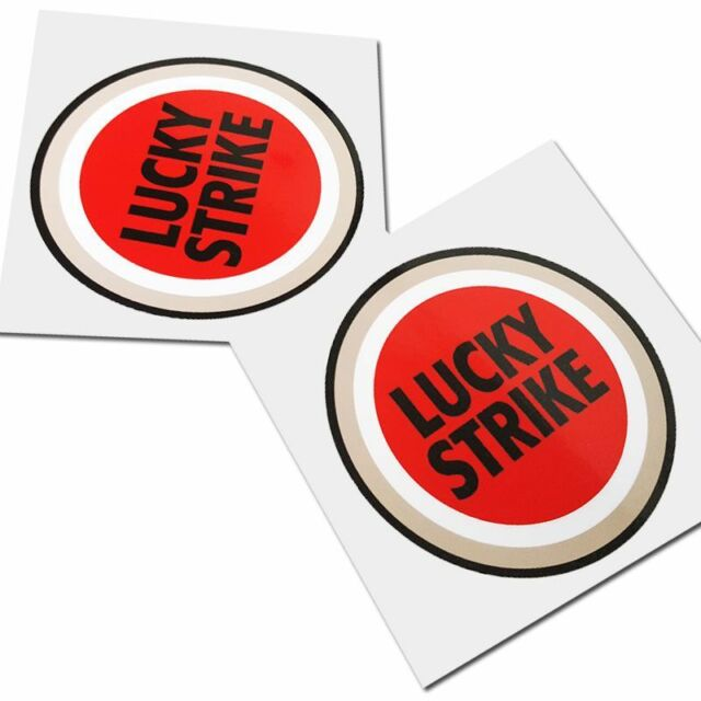 Lucky strike motorcycle sponsor graphics decals stickers x 2pcs