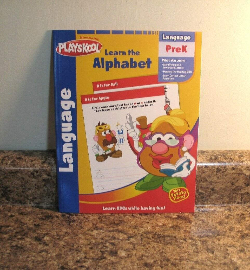 Workbooks prek workbooks : Playskool Mr Potato Head Alphabet Workbook Activity Book PreK | eBay