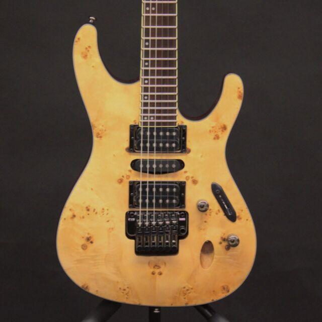 Ibanez S770PB Poplar Burl Natural Finish 6 String Electric Guitar Serial S770 S