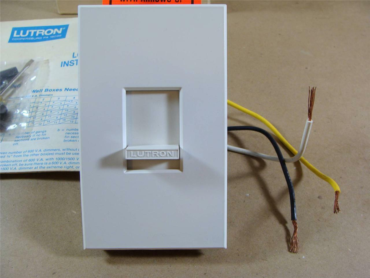 Lutron Nova Nvl-600 Low Voltage Incandescent Light Dimmer 600 Volt ...