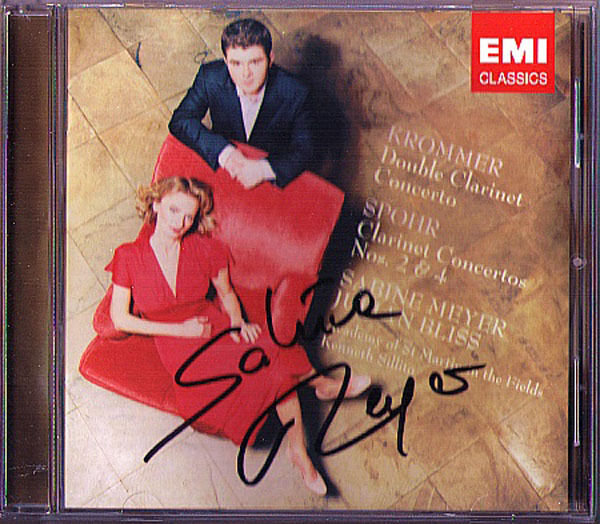 Sabine MEYER Signed KROMMER SPOHR Clarinet Concerto CD Julian Bliss Sillito