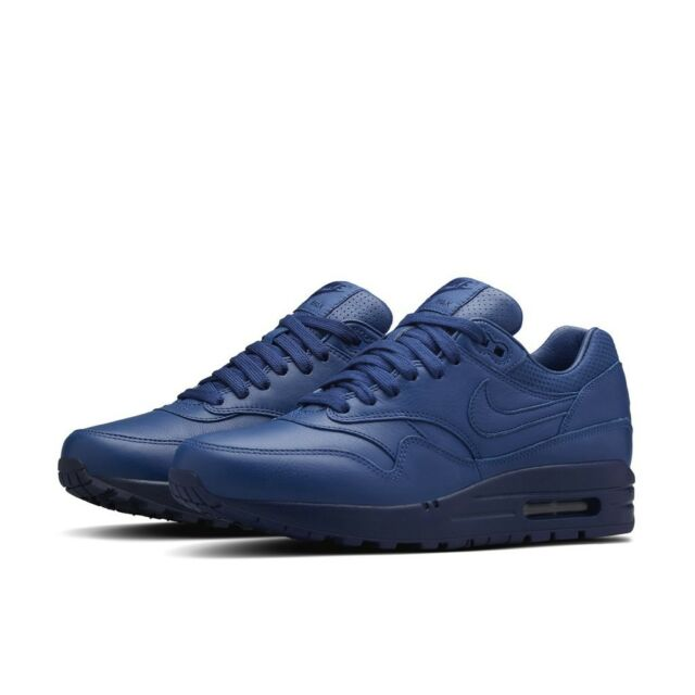 NIKE AIR MAX 1 PINNACLE LEATHER WOMEN'S SHOES SIZE US 6 BLUE 839608-400