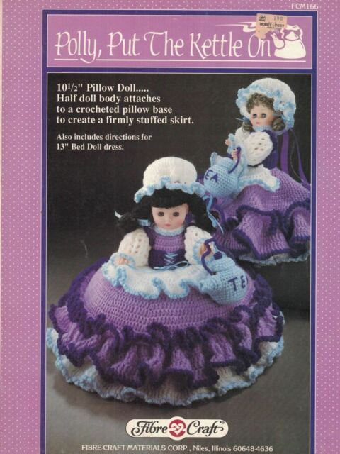 Polly Put The Kettle On Fibre Craft Doll Clothes Crochet Pattern