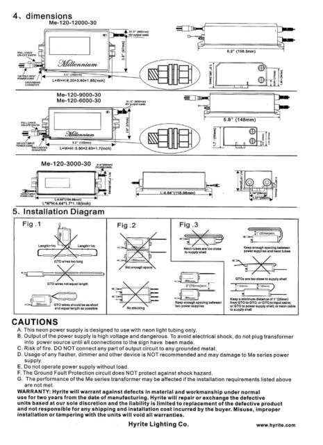 s l640 hyrite me120900030 9000 volts 9 kv neon sign transformer power Microwave Transformer Wiring Diagram at n-0.co
