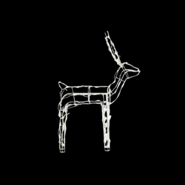 Home accents holiday reindeer christmas decor 48 in lighted wire 48 led light wire reindeer outdoor christmas 120 warm white lighs mozeypictures Images