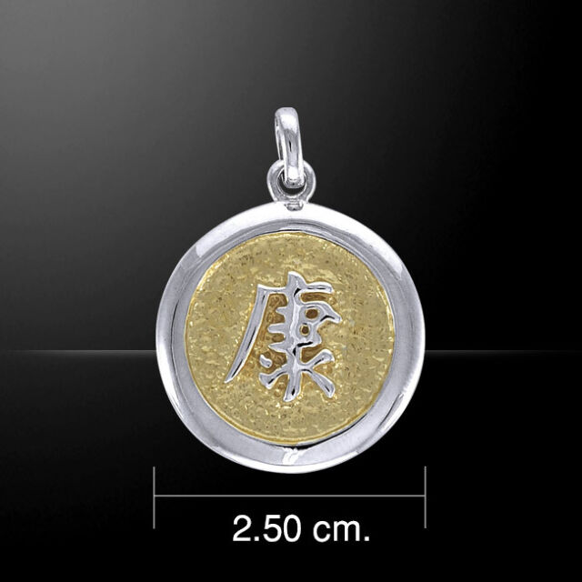 Feng Shui Health Silver And Gold Pendant By Peter Stone Ebay