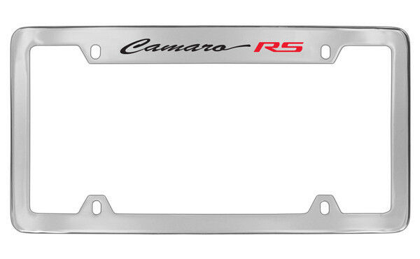 Chevrolet Camaro RS Chrome Plated Metal Top Engraved License Plate ...