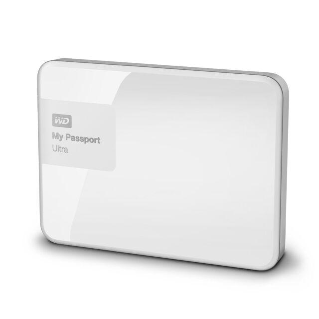 """WD My Passport Ultra 1TB 2,5"""" USB 3.0 (WDBGPU0010BWT) externe Festplatte Weiß"""