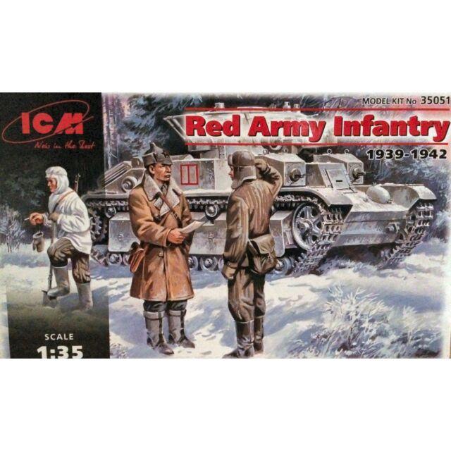 ICM 35051 Soviet Infantry 1939-1942 1/35 plastic scale model kit