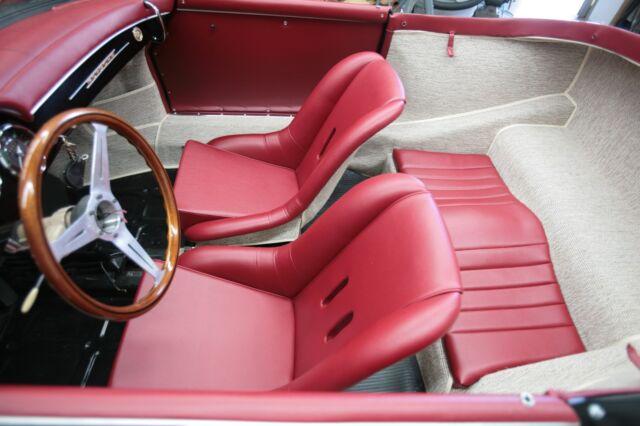 Porsche 356 Speedster Bucket Seat Covers Pair Red Vinyl Ebay