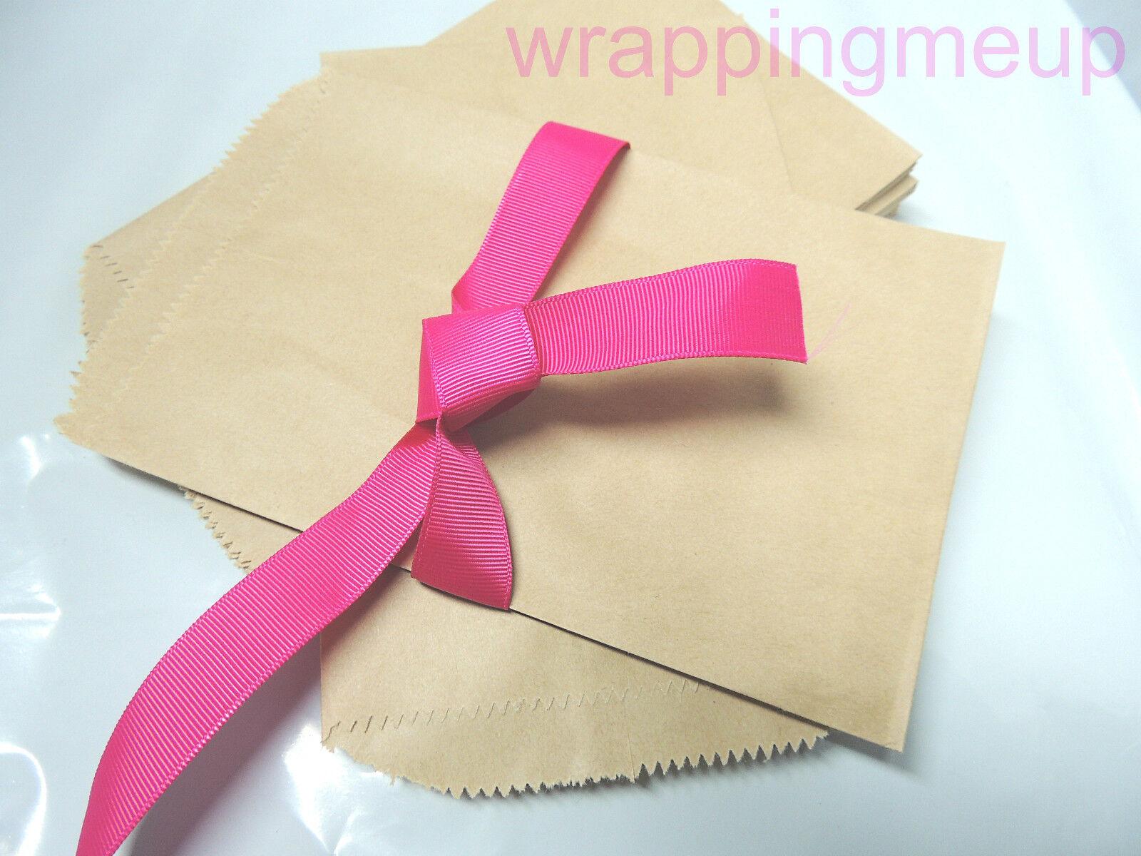 50 5x7 Cute Natural Kraft Paper Bags Craft Bags Wedding Party Bags ...