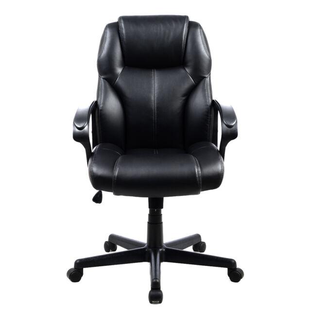 pu leather ergonomic high back executive computer desk task office