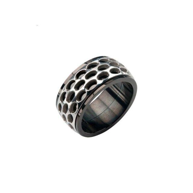 inox men s stainless steel black car grill spinner ring sz 10 ebay