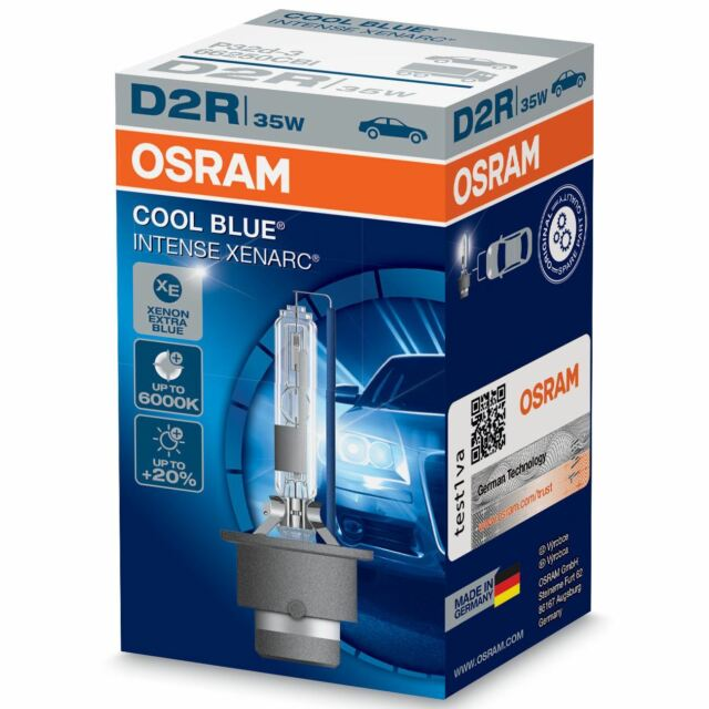2 pcs osram xenarc d2r 66250 cbi cool blue intense xenon. Black Bedroom Furniture Sets. Home Design Ideas