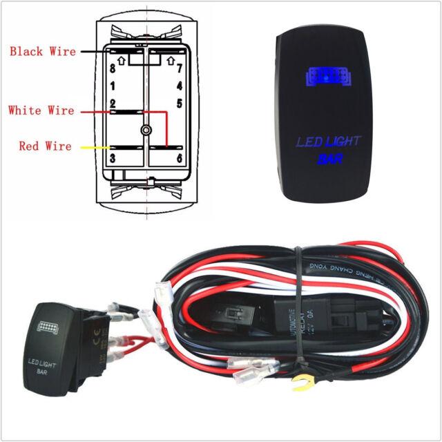 5pin Rocker Toggle Switch On Off Symbols Blue Led Light Bar Car Boat