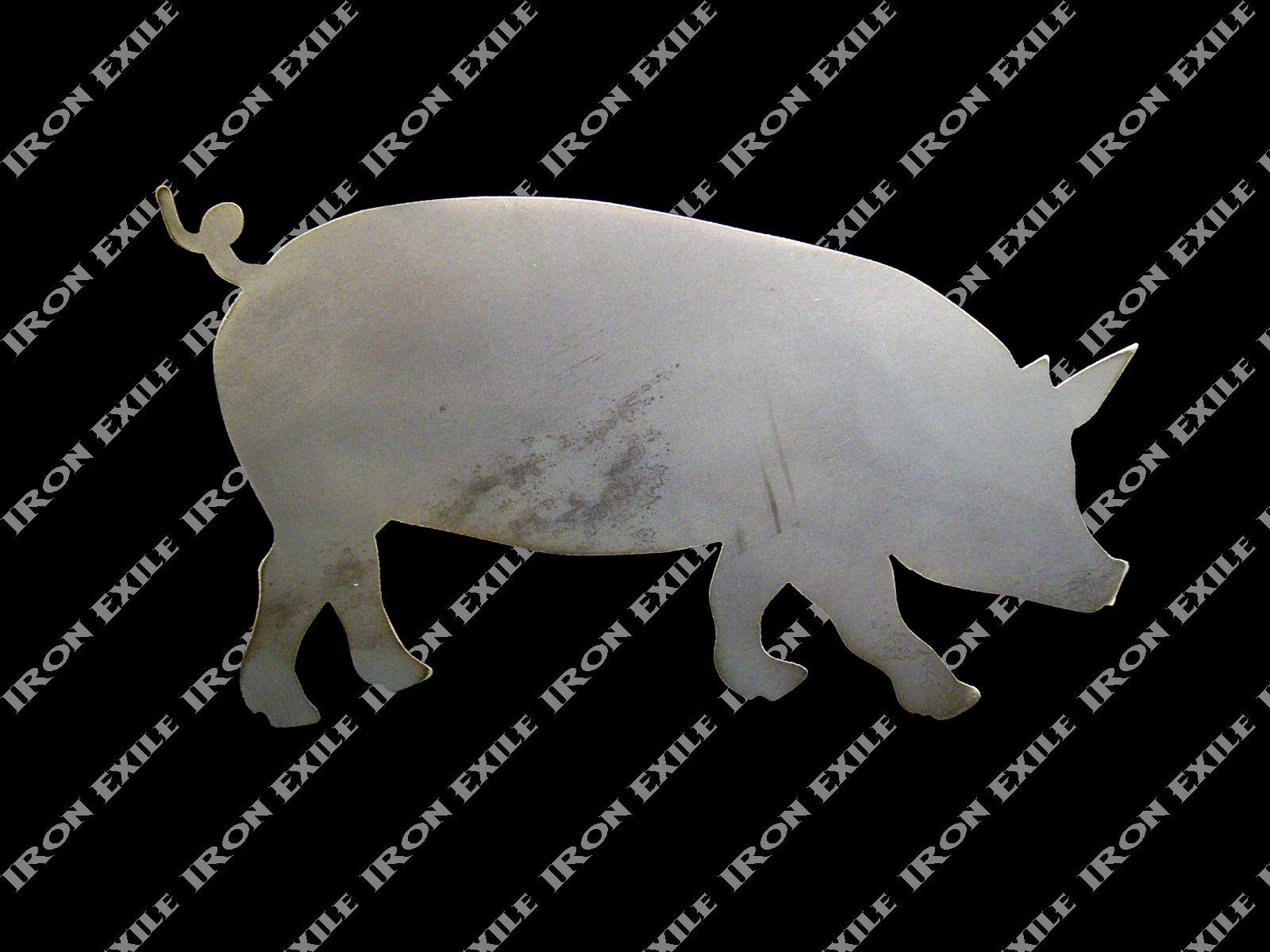 Pig Hog Metal Wall Art BBQ Smoker Ornament Decoration Sign Farm