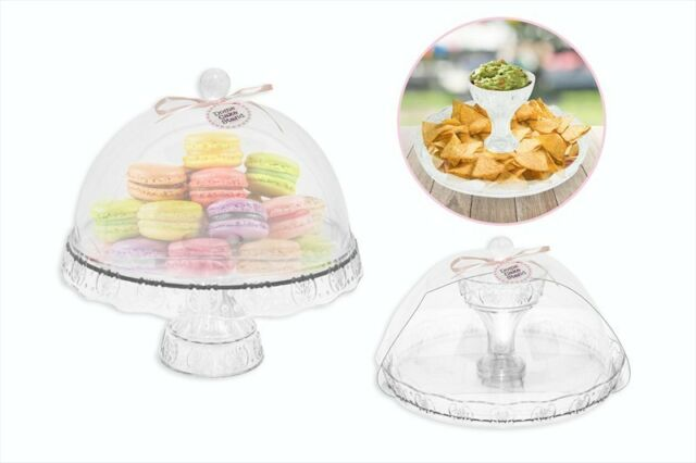 Plastic Birthday Cake Cupcake Cookie Muffin Display Serving Plate
