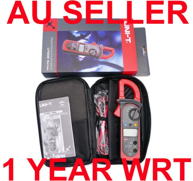 UNI-T DIGITAL AUTO RANGE AC CLAMP METER MULTIMETER UT201 OZ Seller Free Shipping
