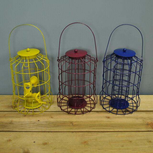 Set of 3 x Kingfisher Squirrel Proof Bird Feeders - Nut, Seed & Fat Ball