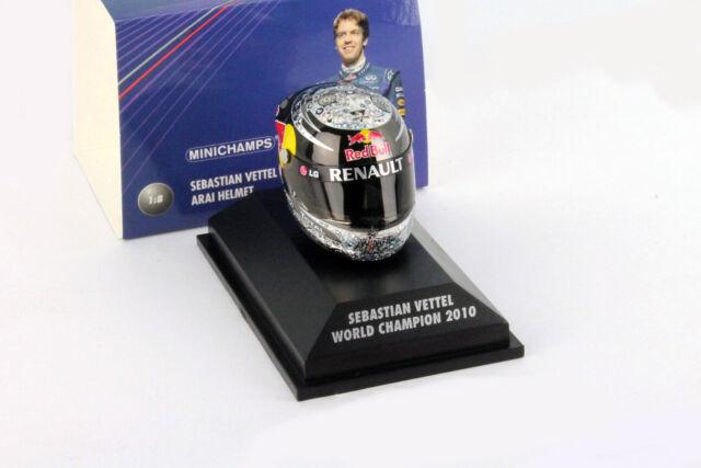 S.Vettel Red TORO GP Abu Dhabi Fórmula 1 Campeón Del Mundo 2010 CASCO 1:8