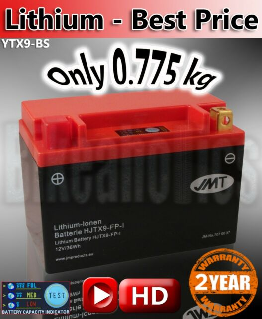 Lithium ion motorcycle Battery Direct replace YTX9-BS JMT aliant shorai shido