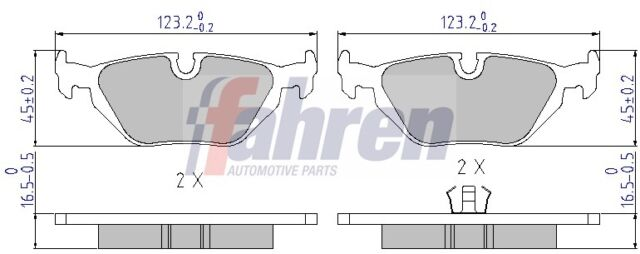 Brake Pads Set FBP0019 Fahren GBP90341AF 34216778168 34216761241 34216761239 New
