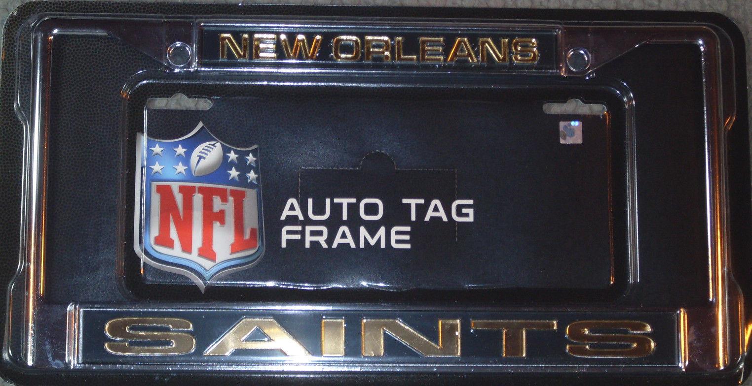 NFL Licensed Laser Cut Metal License Plate Frame Orleans Saints | eBay