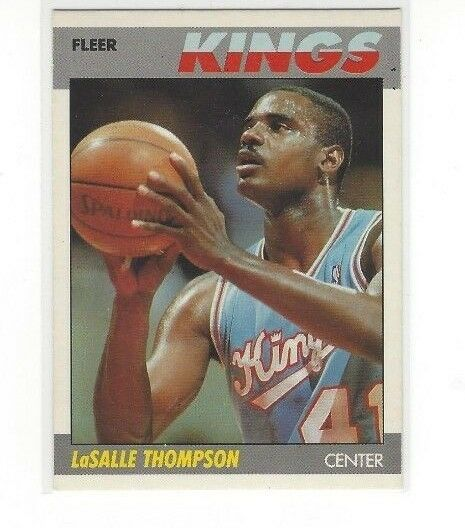 1987-88 FLEER BASKETBALL LASALLE THOMPSON #107 OF 132 - SACRAMENTO KINGS