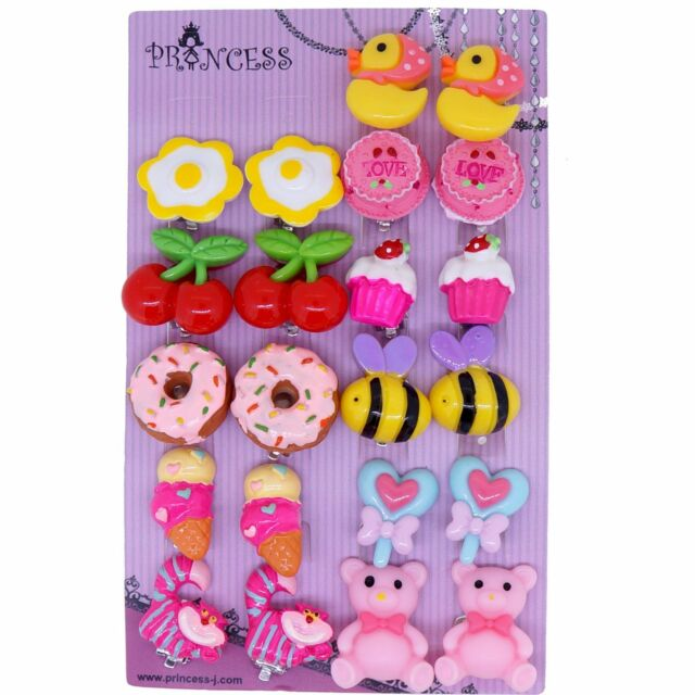Lovely Fashion Clip On Earrings For Little S Kids Daughter 11 Pairs