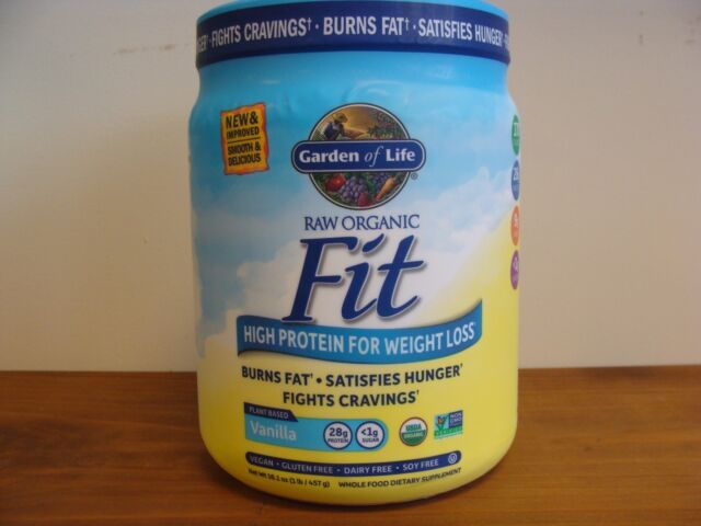 garden of life fit. Raw Fit Vanilla 16.1 Oz - High Protein For Weight Loss Garden Of Life
