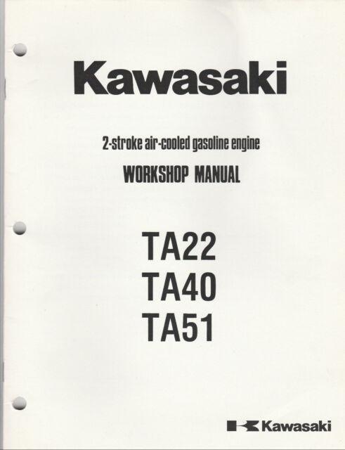 kawasaki shop manual 2 stroke engine model rh ebay com kawasaki td 40 service manual Honda Pp TD40