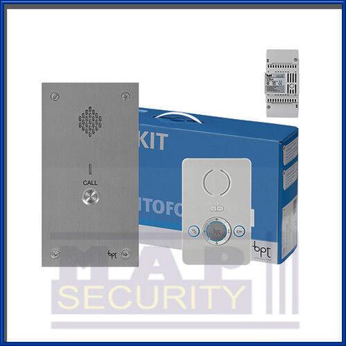 Bpt 1 Way Audio Intercom Door Entry System Kit Perla Unit Vandal