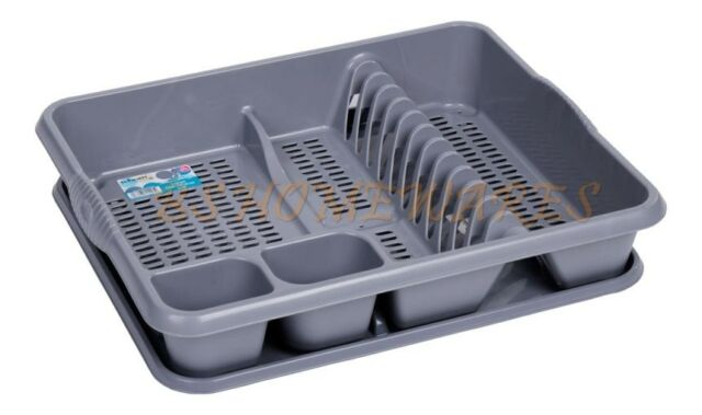 Kitchen Sink Rack Plastic large dish drainer with drip tray cutlery holder kitchen picture 4 of 4 workwithnaturefo